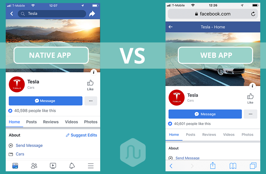 Native app vs Web app